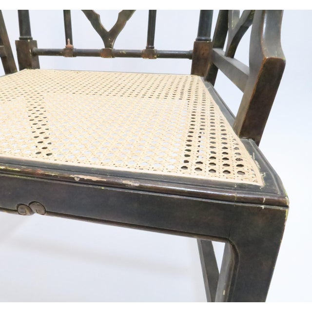 Vintage Chinoiserie Style Wooden Chair - Image 8 of 8
