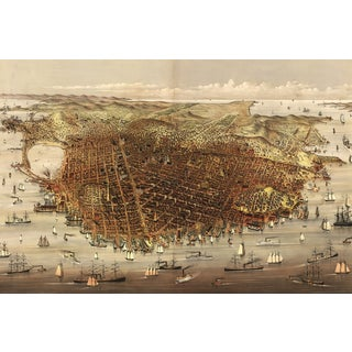 1878 Map of San Francisco Print