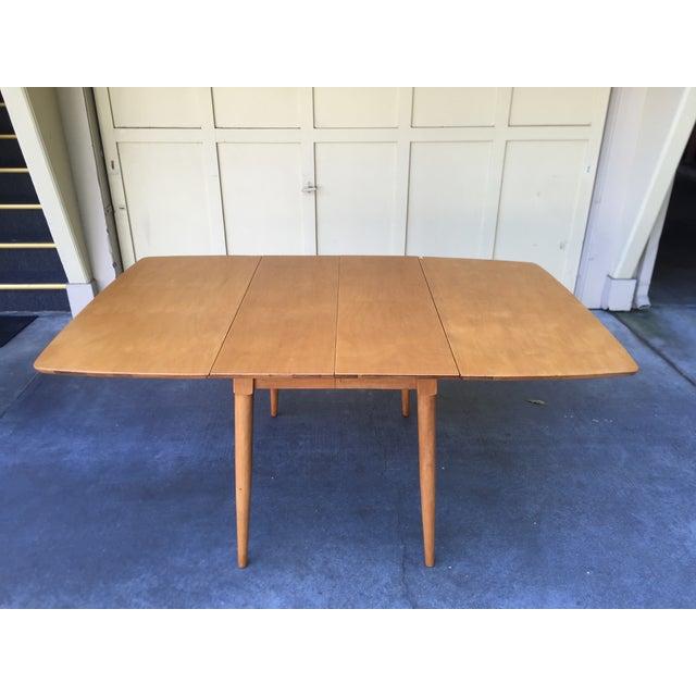 Mid-Century Modern Drop Leaf Wood Table - Image 2 of 8