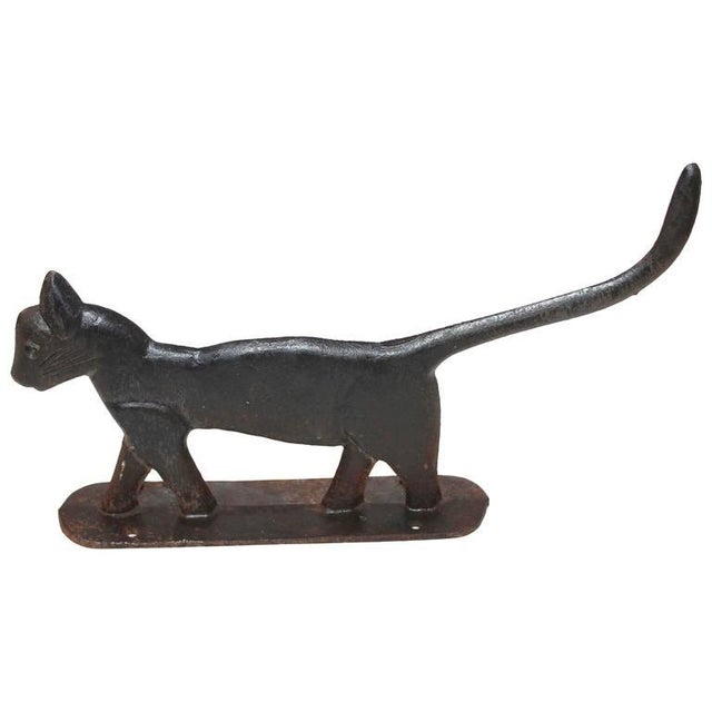 19th Century Cast Iron Cat Boot Scraper - Image 1 of 7