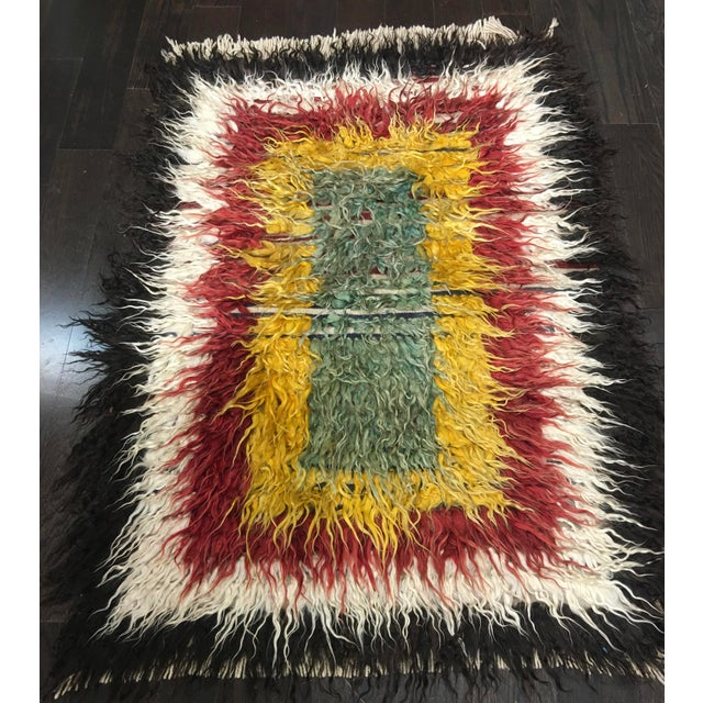 "Bellwether Rugs Vintage Turkish Toloo Kilim Rug - 3'2"" x 4'10 - Image 2 of 6"