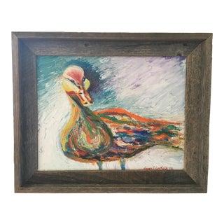 Barn Wood Framed Duck Painting