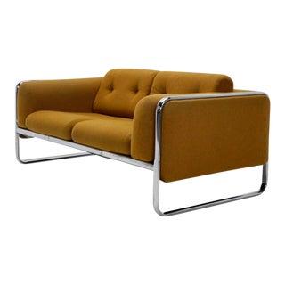 Mid Century Modern Tubular Chrome Sofa/Loveseat
