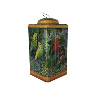 Birdcage Tin Canister