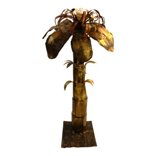 Vintage French Maison Jansen Palm Tree Lamp