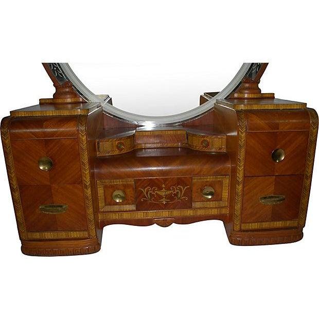 Art Deco Vanity and Bench - Image 2 of 4