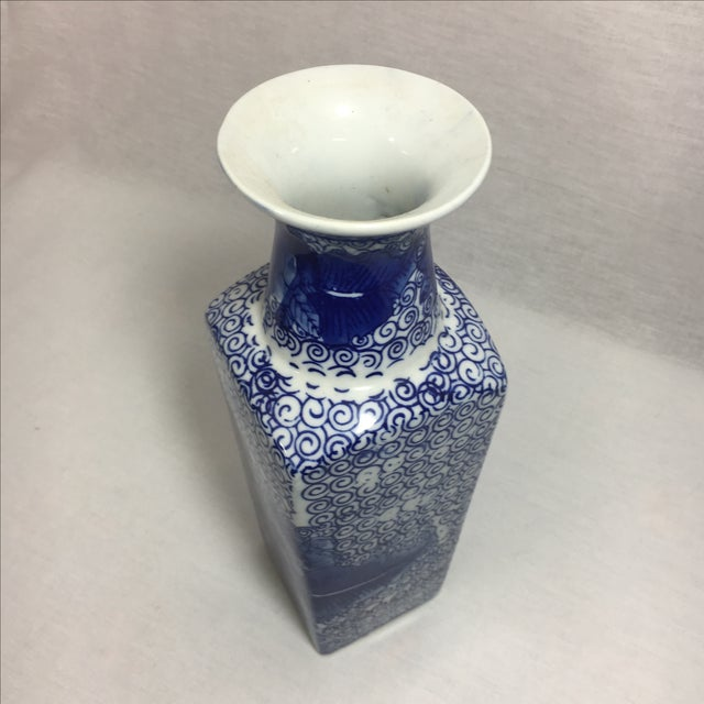 Image of Blue & White Chinoiserie Vase