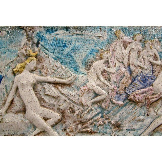 Ugo Lucerni Majolica Wall Relief Sculpture - Image 3 of 6