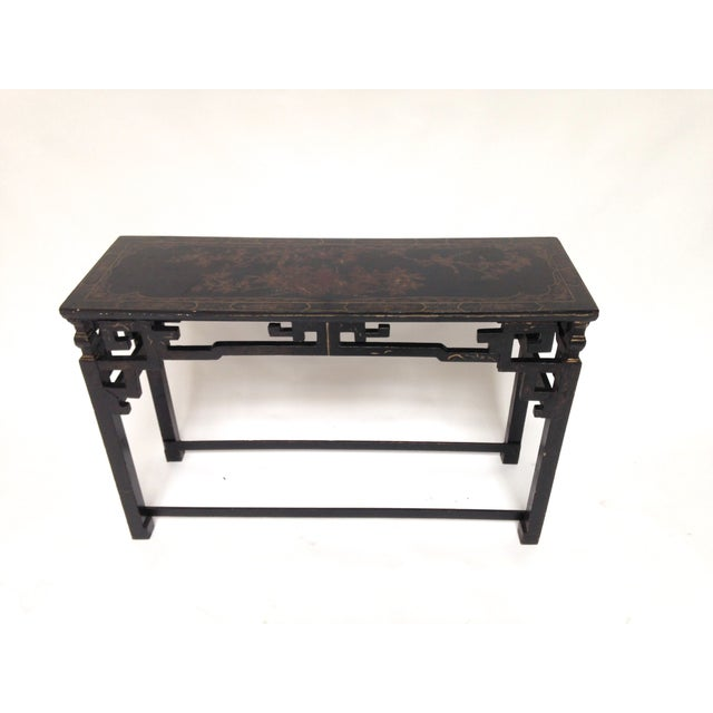Image of Polychrome Chinoiserie Console Sofa Table