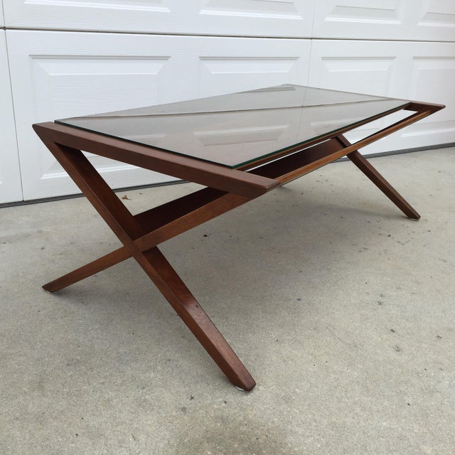 John Van Koert Walnut Coffee Table - Image 3 of 11