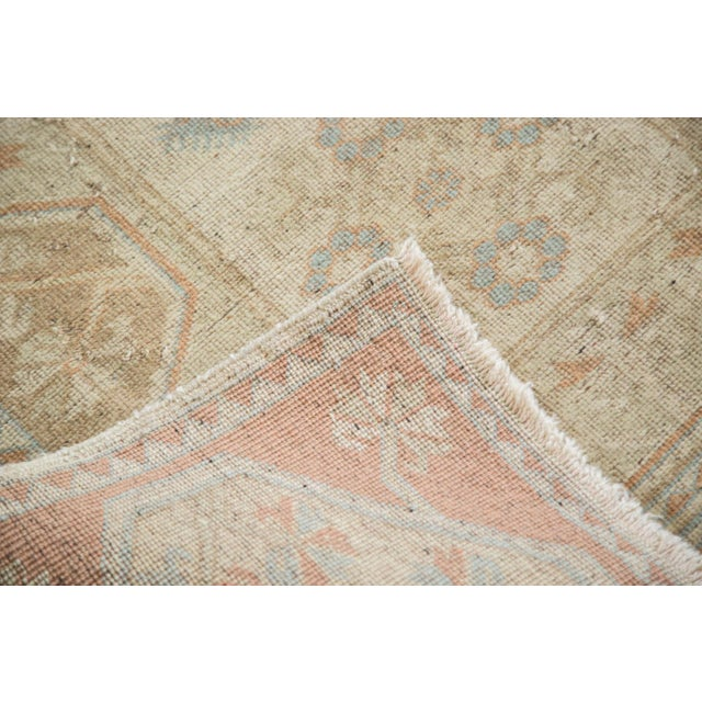 "Image of Vintage Distressed Beige Oushak Rug - 3'8"" x 6'2"""