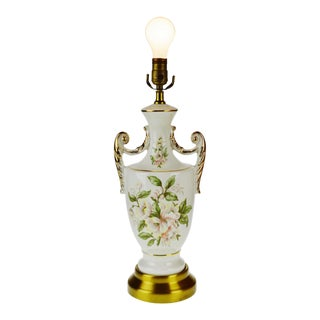 Vintage Porcelain and Gilt Table Lamp