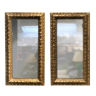 Pair of Late 19th Century Giltwood Mirrors, French Circa 1890