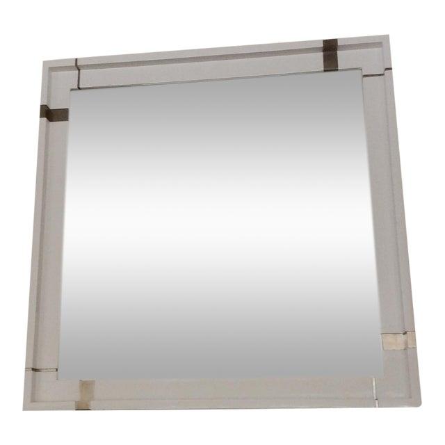 Kallista Laura Kirar Vir Stil White Lacquer Mirror - Image 1 of 7