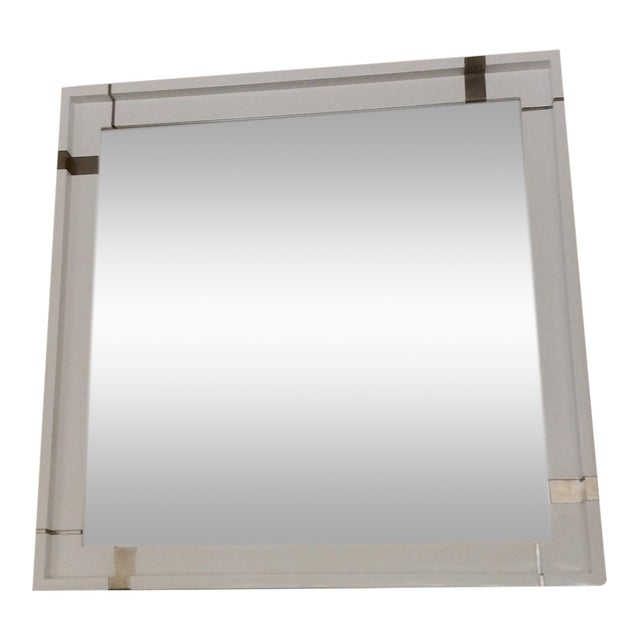 Laura Kirar White Lacquer Mirror - Image 1 of 7