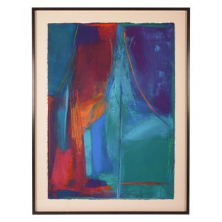 'Stage Fright' Framed Abstract Painting