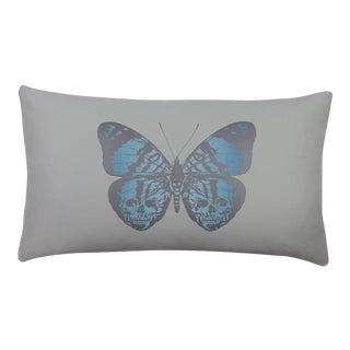 Maverick Butterfly Pale Blue Lumbar Pillow