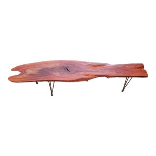 Lychee Live Edge Slab Wood Coffee Table