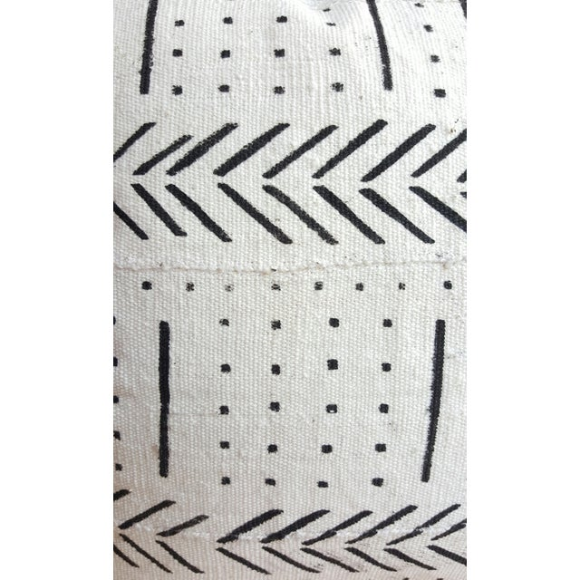 Image of White African Mud Cloth Lumbar Pillows - A Pair