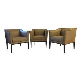 Baker Ridgeback Salon Chairs - Set of 3