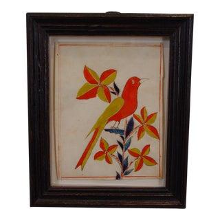 Bucks County Fraktur Drawing of a Songbird