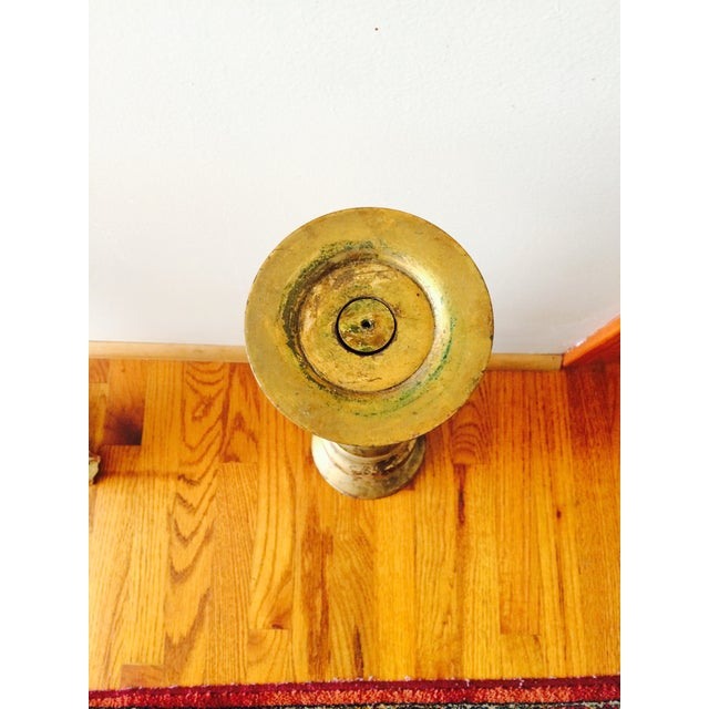 Image of Vintage Tall Heavy Brass Candlestick