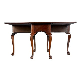 Mahogany Chippendale 6-leg Claw & Ball Drop Leaf Dining Table