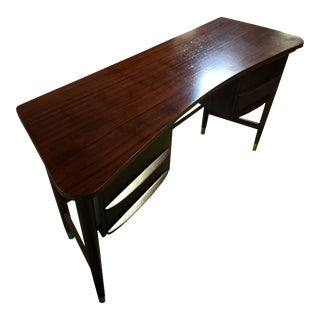 Mid-Century Danish Curved Top Desk