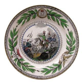 Antique Polychrome Napoleon Plate