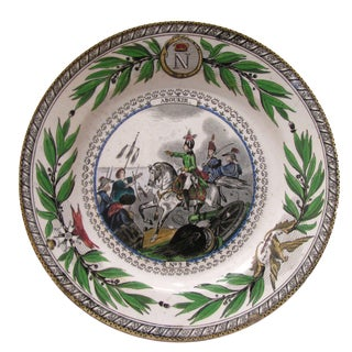 Antique Polychrome Napoleon Plate