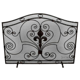 Handmade Wrought Iron Fireplace Screen