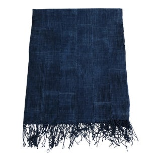 Vintage African Indigo Textile Throw