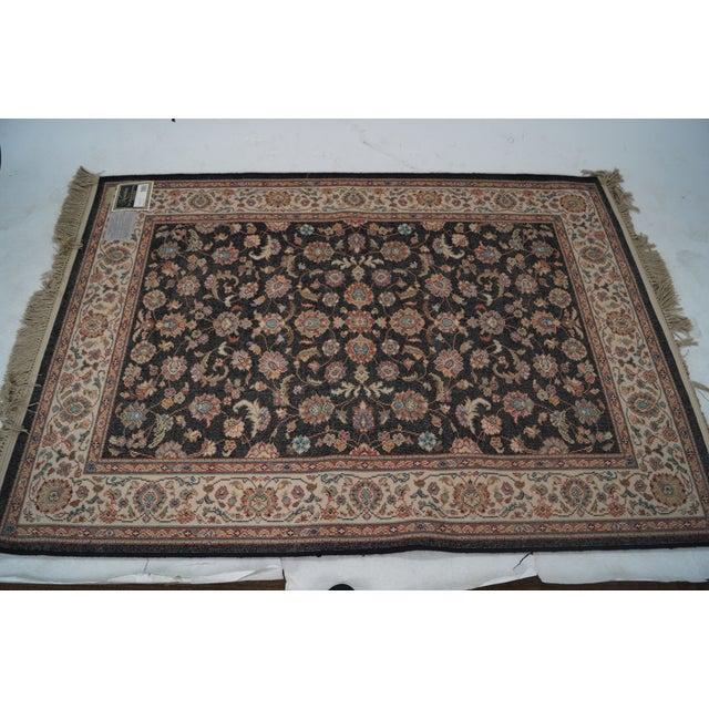 "Image of Vintage Karastan Black Kashan Rug - 4'4"" X 6'10"""