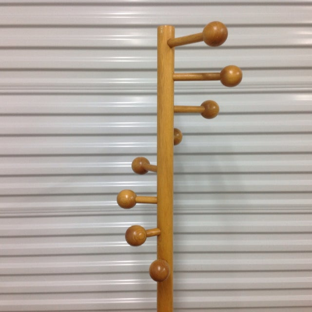 Image of Mid Century Eames Coat Rack With Ball Hangers