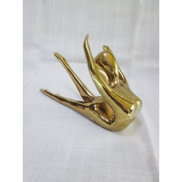 Brass Nude Art Deco Lady Paperweight - Image 8 of 10