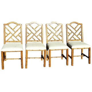 Vintage Chinese Chippendale Chairs - Set of 4