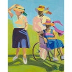 """Image of """"Out for a Walk"""" Original Oil Painting"""