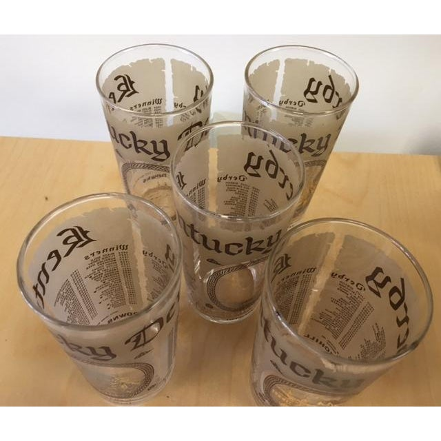 Kentucky Derby Anniversary Glasses - Set of 5 - Image 4 of 5