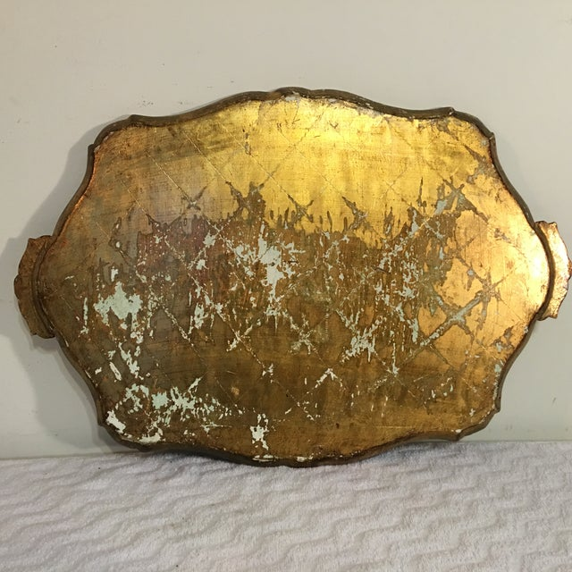 Image of Florentine Vintage Scalloped Gold Serving Tray