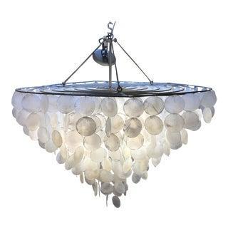 Round Capiz Shell 4 Bulb Chandelier