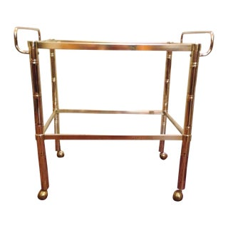 Gold Hollywood Regency Bar Cart
