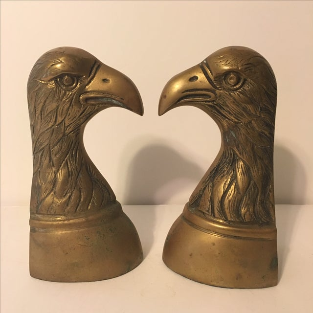 Brass Eagle Bookends - A Pair - Image 4 of 6