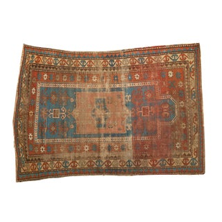 "Antique Prayer Kazak Rug - 4'11"" x 6'9"""
