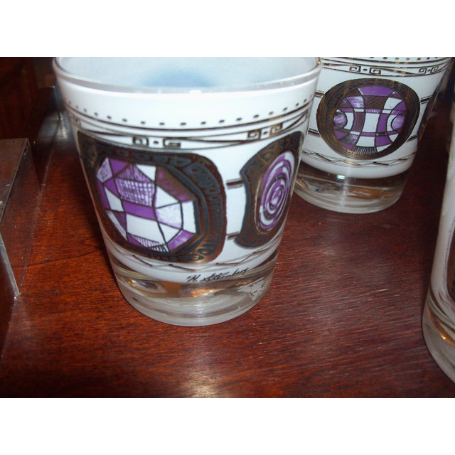 Image of Mid Century Bar Glasses After Harry Sternberg - 12