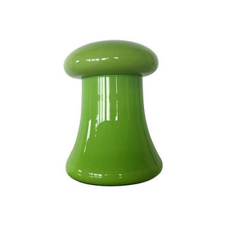 Chartreuse Cased Glass Mushroom Jar