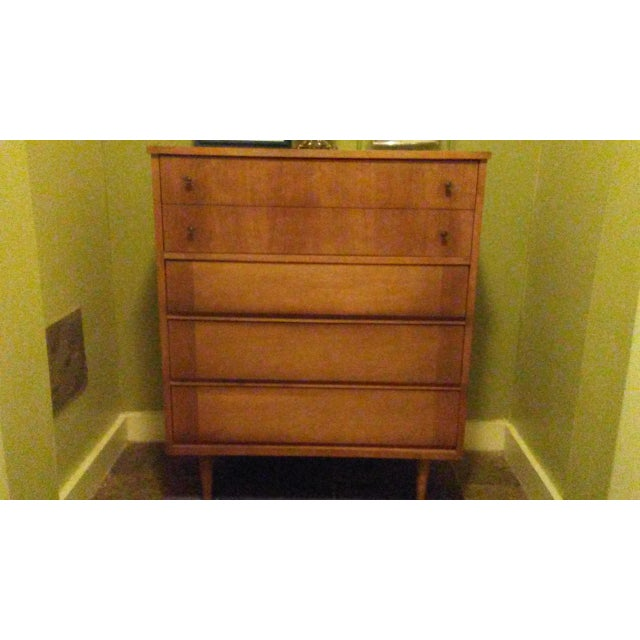 Mid-Century Modern Wooden Dresser - Image 2 of 5