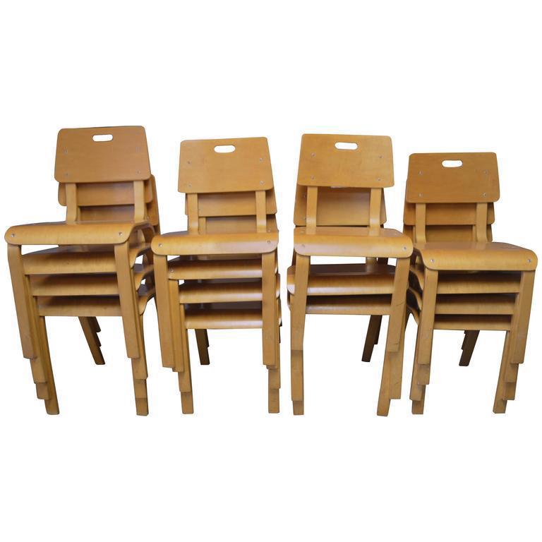 Thonet Mid Century Childrenu0027s Chairs   Set Of 15