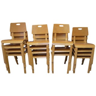 Thonet Mid-Century Children's Chairs - Set of 15