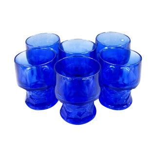 Cobalt Blue Whiskey Glasses - Set of 6
