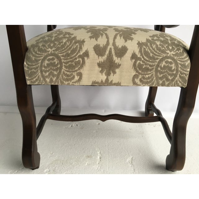Image of Traditional Cream/Grey Woven Chenille Arm Chair